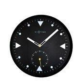 Zegar ścienny Serious Black indeks