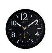 Zegar ścienny Serious Black cyfry arabskie