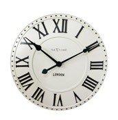 Zegar ścienny London Roman biały