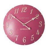 Zegar ścienny London Arabic malinowy
