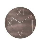 Zegar ścienny z podświetlaną tarczą Galileo brązowy - małe zdjęcie