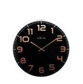 Zegar ścienny Classy Large czarno-miedziany