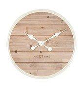Zegar ścienny Plank 50 cm biały - małe zdjęcie