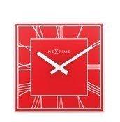 Zegar stołowy Roman Square czerwony