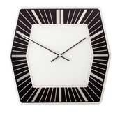 Zegar ścienny Hexagon ciemny