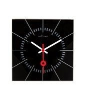 Zegar ścienny Stazione czarny - małe zdjęcie