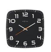 Zegar ścienny Classy Square czarny - małe zdjęcie