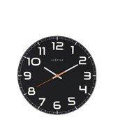 Zegar ścienny Classy Round czarny - małe zdjęcie