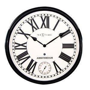 Zegar ścienny Amsterdam z sekundnikiem