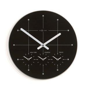 Zegar ścienny Big City czarny