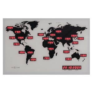 Zegar ścienny World Time Digit