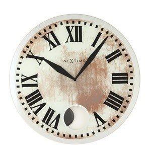 Zegar ścienny z wahadłem Romana White