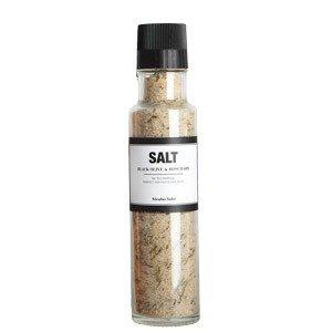 Sól z czarnymi oliwkami i rozmarynem z młynkiem Nicolas Vahe