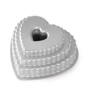 Forma do ciasta Tiered Heart
