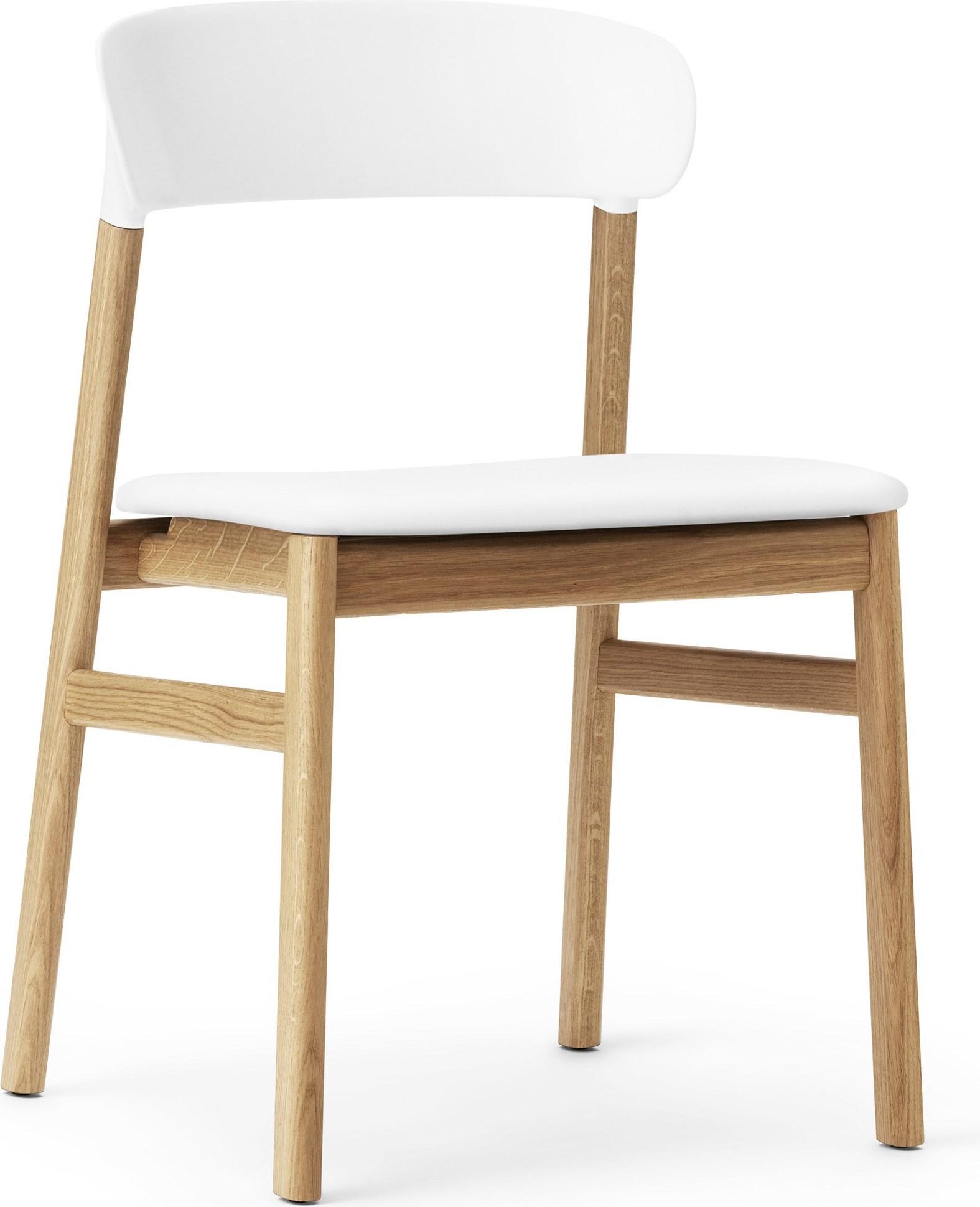 Krzesło Herit Jasny Dąb Siedzisko Skórzane