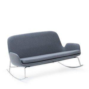 Sofa Era bujana na stalowych chromowanych nogach