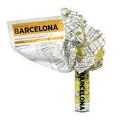 Mapa Crumpled City Barcelona - małe zdjęcie