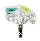 Mapa Crumpled City Lizbona - małe zdjęcie