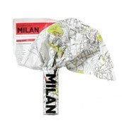 Mapa Crumpled City Mediolan - małe zdjęcie