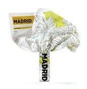 Mapa Crumpled City Madryt - małe zdjęcie