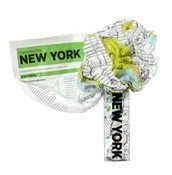 Mapa Crumpled City Nowy Jork