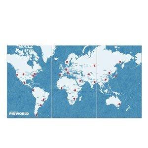 Dekoracja ścienna XL Pin World
