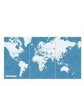 Dekoracja ścienna XL Pin World - zdjęcie 1