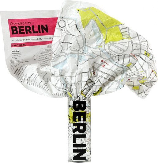Mapa Crumpled City Berlin
