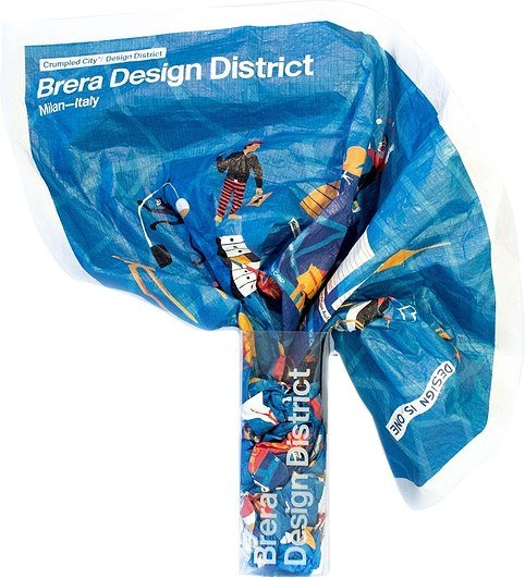 Mapa Crumpled City Brera Design District