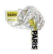 Mapa Crumpled City Paryż - małe zdjęcie