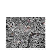 Dekoracja ścienna Pin City Londyn czarna - małe zdjęcie