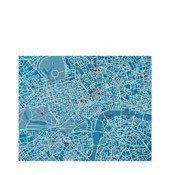 Dekoracja ścienna Pin City Londyn jasnoniebieska - małe zdjęcie