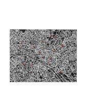 Dekoracja ścienna Pin City