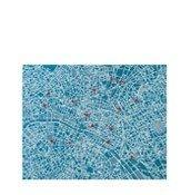 Dekoracja ścienna Pin City Paryż jasnoniebieska