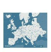 Dekoracja �cienna Pin Wall Europa