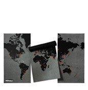Dekoracja ścienna XL Pin World czarna - małe zdjęcie