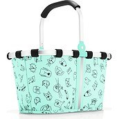Koszyk Carrybag XS Turquoise Cats and Dogs miętowy