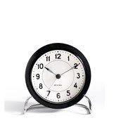 Zegar stołowy Arne Jacobsen Station czarno-biały - małe zdjęcie