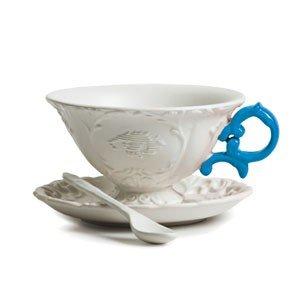 Filiżanka do herbaty ze spodkiem i łyżeczką I-Tea