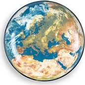 Półmisek Cosmic Earth Europe