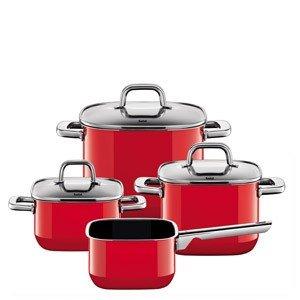 4-częściowy zestaw garnków Quadro Red
