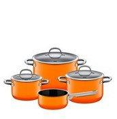 4-częściowy zestaw garnków Passion Orange z rondlem - zdjęcie 1