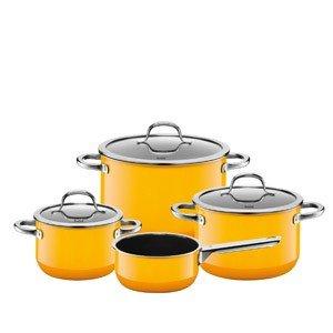 4-częściowy zestaw garnków z rondlem Passion Yellow