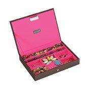 Pudełko na biżuterię z pokrywką classic Stackers czekoladowo-różowe - małe zdjęcie