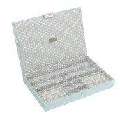 Pudełko na biżuterię z pokrywką supersize Stackers błękitno-szare
