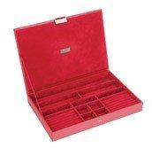Pudełko na biżuterię z pokrywką supersize Stackers czerwone - małe zdjęcie