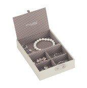 Pudełko na biżuterię podróżne Travel Box Stackers waniliowo-kawowe - małe zdjęcie