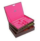 Pudełko na biżuterię potrójne supersize Stackers czekoladowe - małe zdjęcie