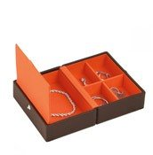 Pudełko na biżuterię podróżne Travel Box Stackers czekoladowe - małe zdjęcie