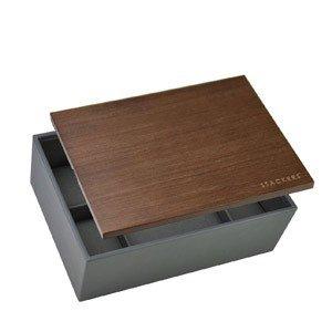 Pudełko na zegarki z drewnianą pokrywką Stackers